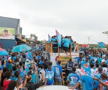Rio 2016. Mieszkańcy Fidżi świętują złoty medal rugbystów