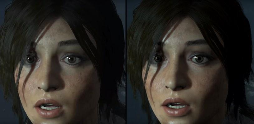 Rise of the Tomb Raider: Porównanie jakości na konsolach Xbox One X (lewa strona) i PS4 Pro (prawa strona), zamieszczone w serwisie Youtube.com /na kanale: DigitalFoundry /materiały źródłowe