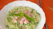 Risotto: zielony groszek i mietowe pesto.