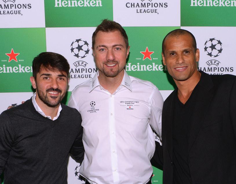 Rivaldo (pierwszy z prawej), w środku Jerzy Dudek, z prawej David Villa /Stephen Lovekin /Getty Images