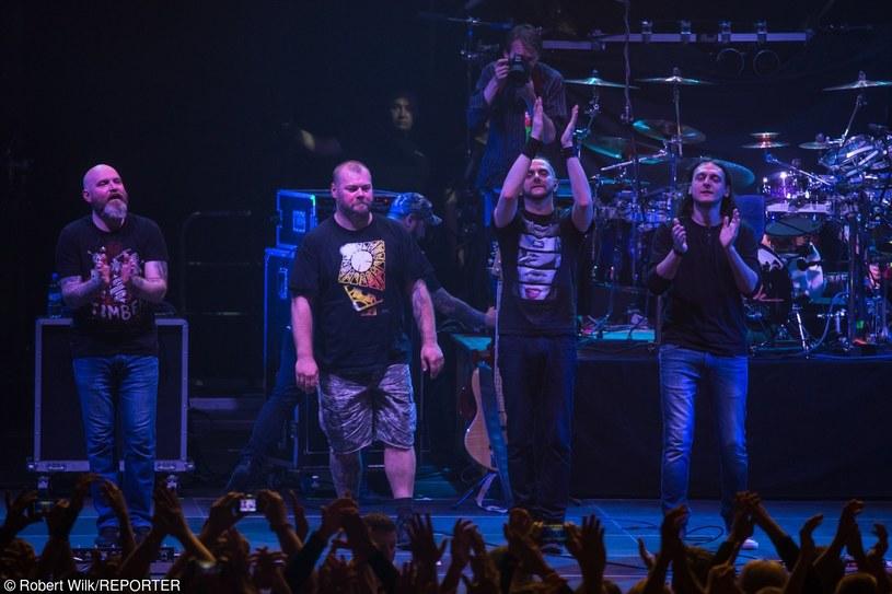 Riverside jako kwartet - pierwszy z lewej Piotr Grudziński, Mariusz Duda drugi z prawej /fot. Robert Wilk /Reporter