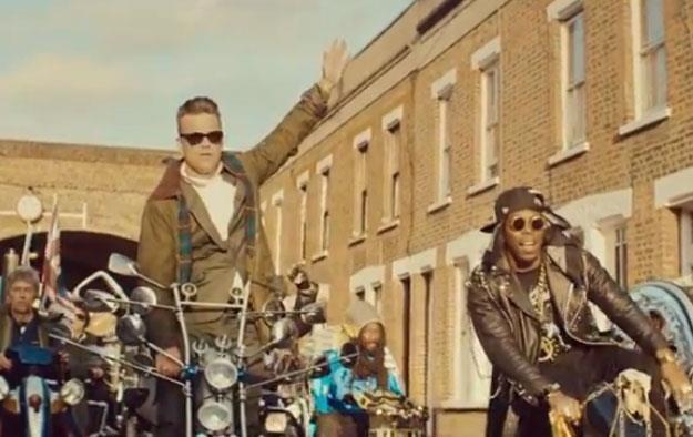 """Robbie Williams i Dizzee Rascal w klipie """"Goin' Crazy"""" /"""
