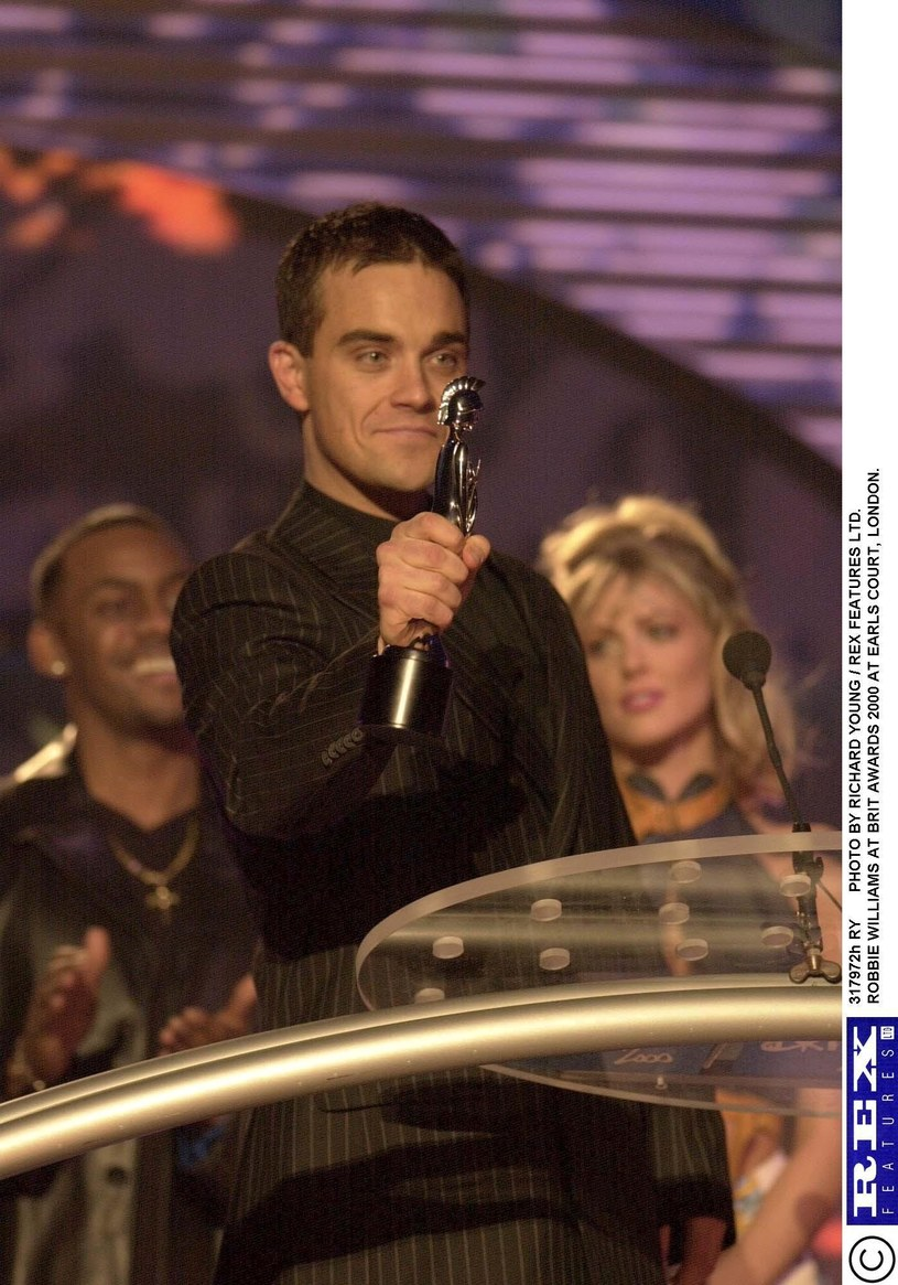 Robbie Williams na Brit Awards 2010 /Rex Features/Richard Young /East News
