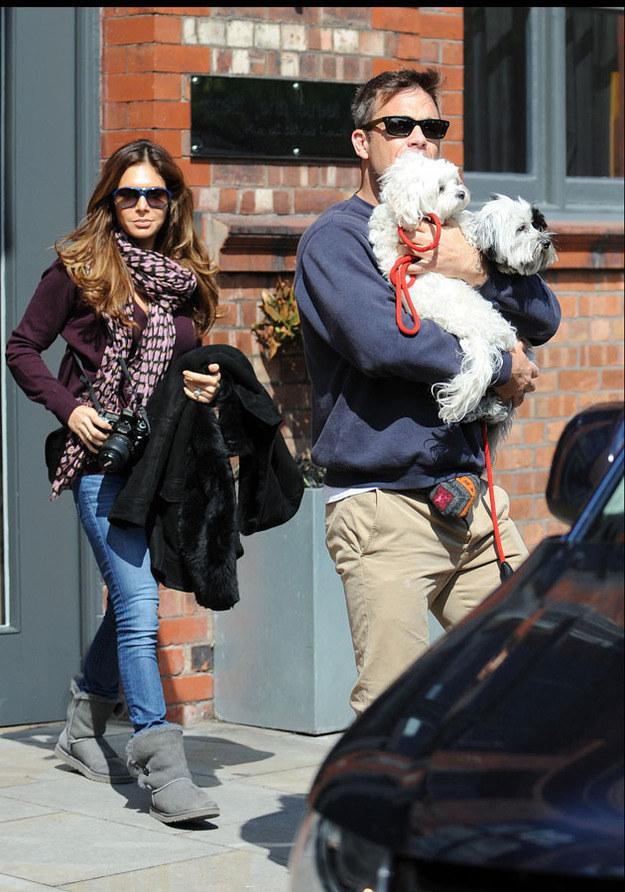 Robbie Williams z żoną Aydą Field /- /Splashnews