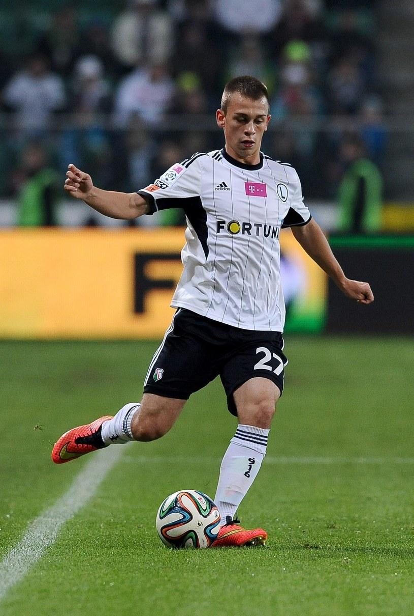 Robert Bartczak strzelił jedynego gola dla Legii na wagę remisu /Fot. Mateusz Jagielski /East News