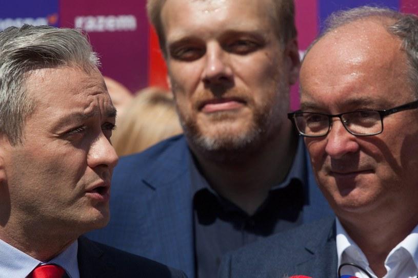 Robert Biedroń, Adrian Zandberg i Włodzimierz Czarzasty /Stefan Maszewski /Reporter