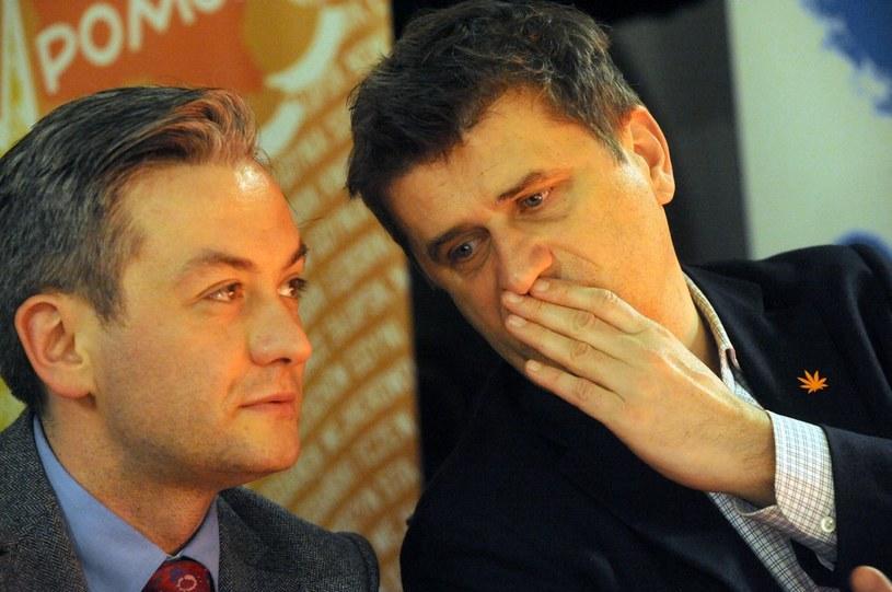 Robert Biedroń i Janusz Palikot /Wojciech Strozyk/REPORTER /East News
