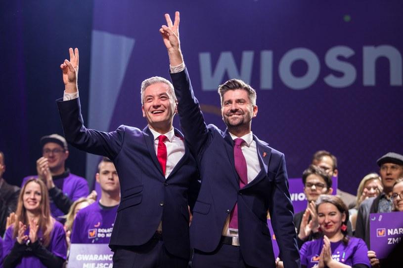 Robert Biedroń i Krzysztof Śmiszek na konwencji Wiosny /Jan Graczyński /East News