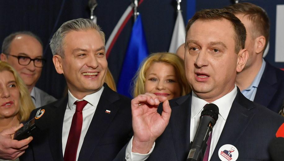 Robert Biedroń i Tomasz Trela /Grzegorz Michałowski   /PAP