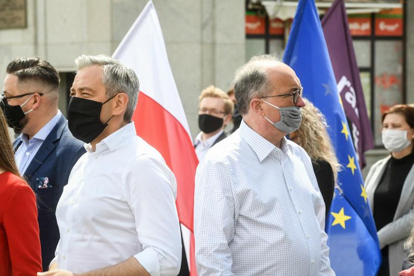 Robert Biedroń i Włodzimierz Czarzasty /Jacek Domiński /Reporter