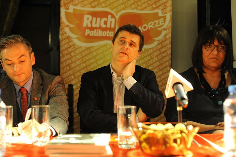 Robert Biedroń, Janusz Palikot i Anna Grodzka w 2013 roku /Wojciech Strożyk REPORTER /East News