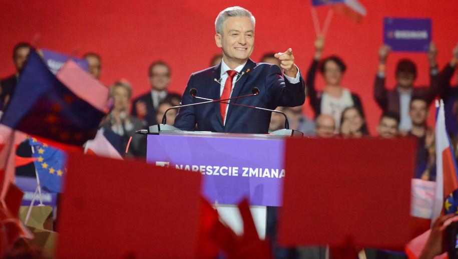 Robert Biedroń podczas konwencji Wiosny / Jakub Kamiński    /PAP