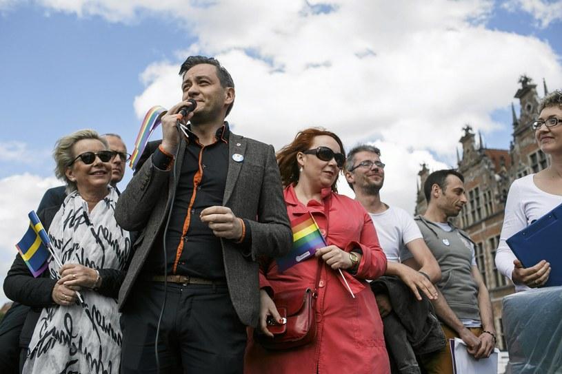 Robert Biedroń podczas Marszu Równości, fot. 2015 /Łukasz Głowala /