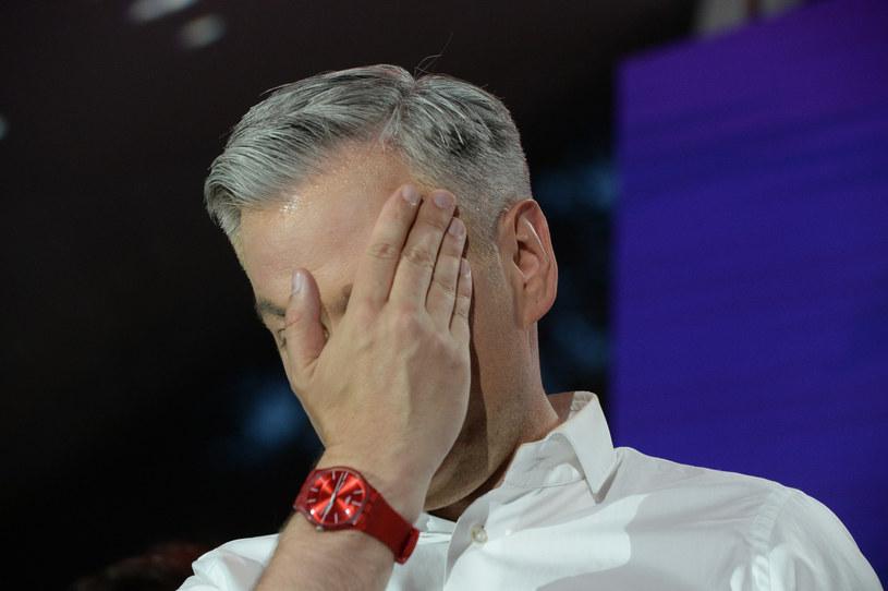 Robert Biedroń podczas wieczoru wyborczego /Jan Bielecki /East News