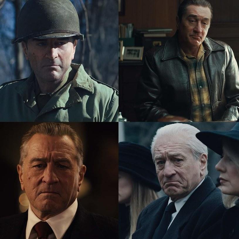 Robert De Niro jako Frank Sheeran - w różnych fazach życia /materiały prasowe