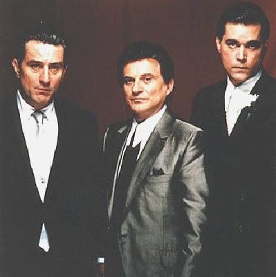 """Robert De Niro, Joe Pesci i Ray Liotta jako """"Chłopcy z ferajny"""" /"""