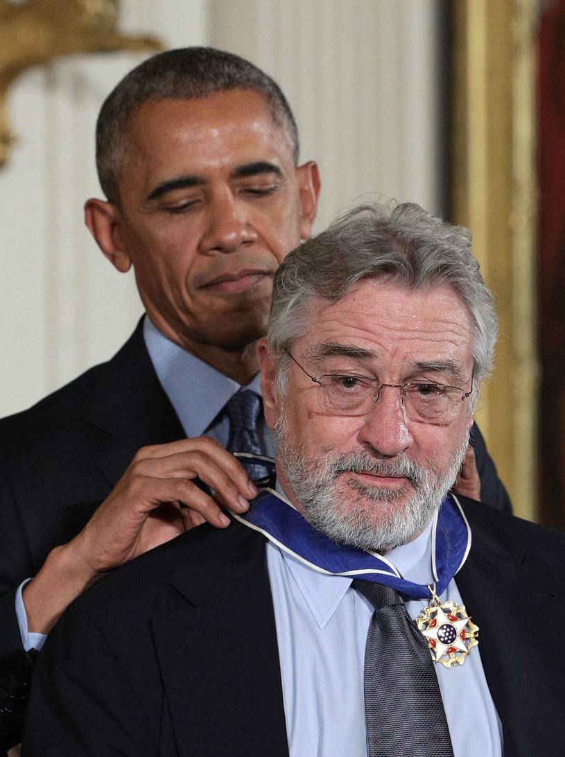 Robert De Niro został odznaczony w 2016 roku przez Baracka Obamę Medalem Wolności /ALEX WONG /Getty Images