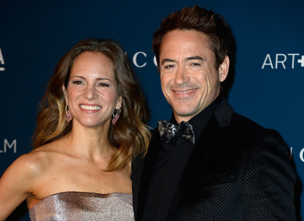 Robert Downey Jr. z żoną /Getty Images