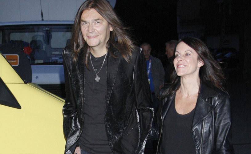 Robert Gawliński z żoną Moniką /Krzemiński Jordan /AKPA