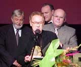 Robert Gliński ze Złotymi Lwami, Gdynia 2001 /
