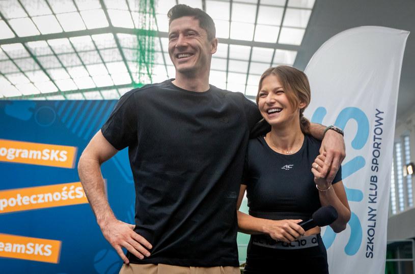 Robert i Anna Lewandowscy /Tomasz Jastrzebowski/REPORTER /East News