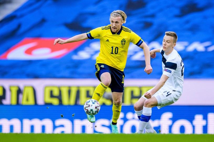 Robert Ivanov w barwach Finlandii w meczu ze Szwecją /ZUMA/NEWSPIX.PL /Newspix