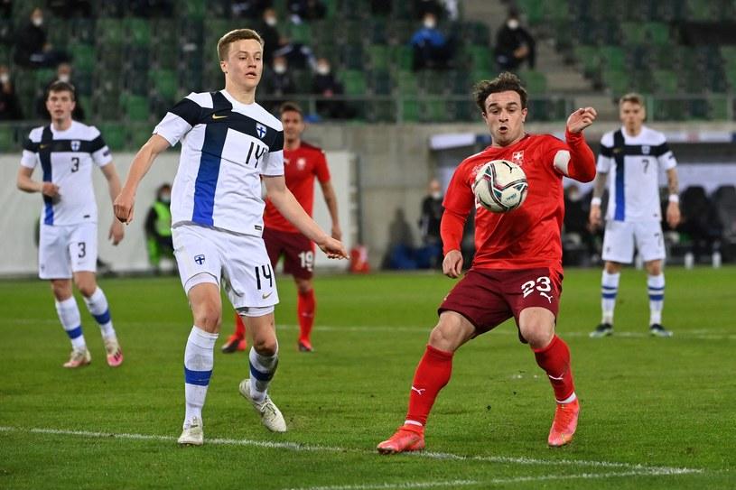 Robert Ivanov w meczu Finlandia - Szwajcaria /AFP/AFP FABRICE COFFRINI/ /Newspix