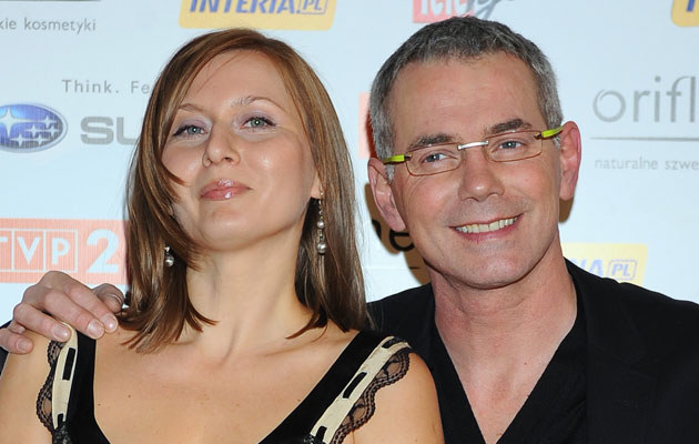 Robert Janowski z drugą żoną Katarzyną Dańską /MWMedia