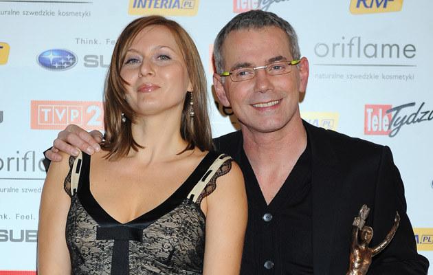 Robert Janowski z żoną Katarzyną  /MWMedia