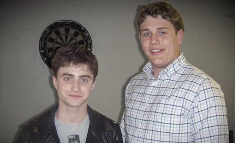 """Robert Knox i Daniel Radcliffe na planie filmu """"Harry Potter i Książę Półkrwi"""" /YouTube"""
