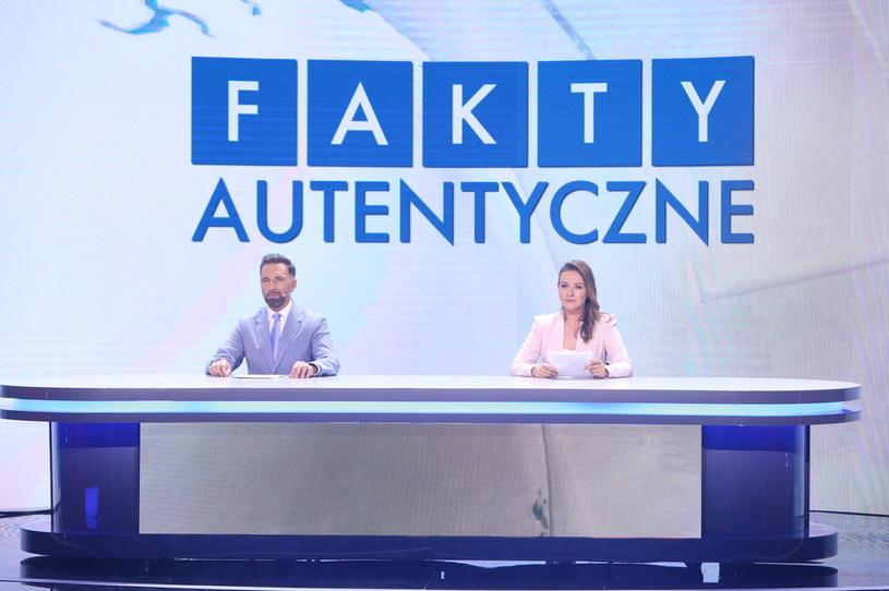 """Robert Korólczyk oraz Ewa Błachnio i ich """"Fakty Autentyczne"""" /Polsat"""