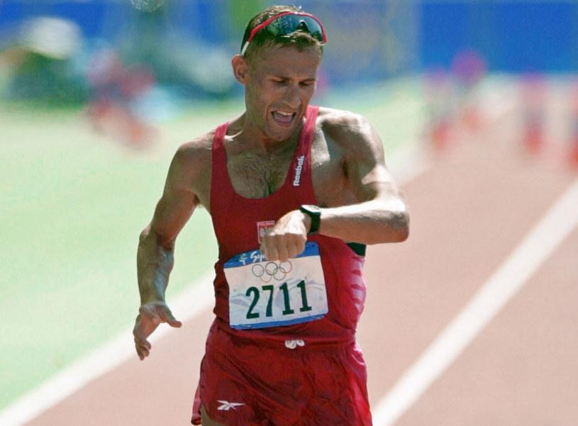 Robert Korzeniowski podczas igrzysk olimpijskich w Sydney /AFP