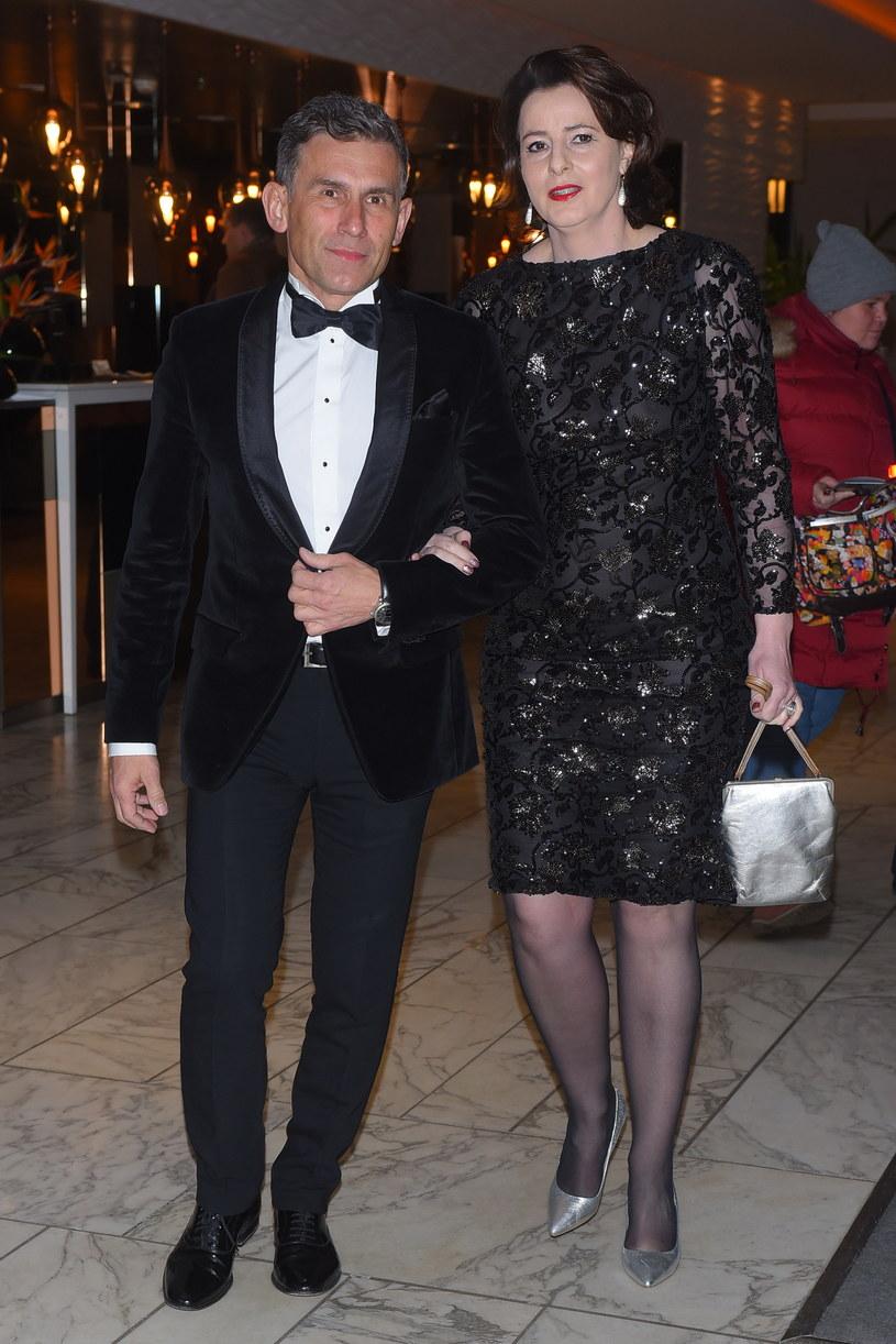 Robert Korzeniowski z drugą żoną Magdą /Andras Szilagyi /MWMedia