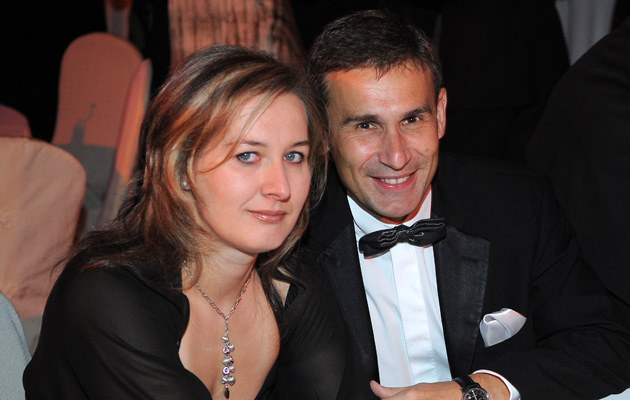 Robert Korzeniowski z żoną Agnieszką, fot.Andras Szilagyi  /MWMedia