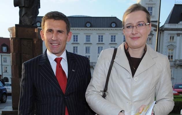 Robert Korzeniowski z żoną /fot.Andras Szilagyi  /MWMedia