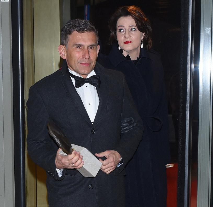Robert Korzeniowski z żoną /Andras Szilagyi /MWMedia
