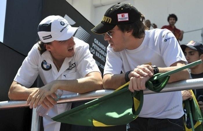 Robert Kubica i Fernando Alonso /AFP