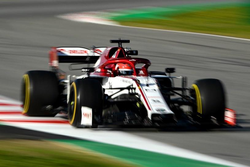 Robert Kubica na testach F1 w Barcelonie /AFP