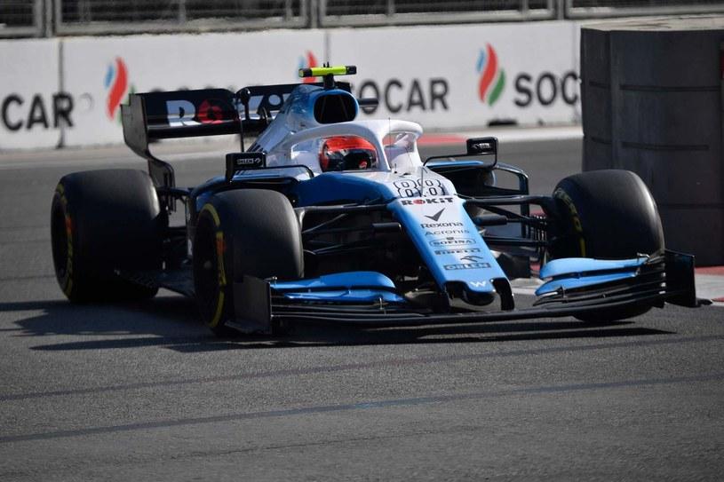 Robert Kubica na torze w Baku w ubiegłym sezonie /AFP