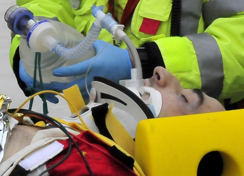 Robert Kubica po wypadku /AFP