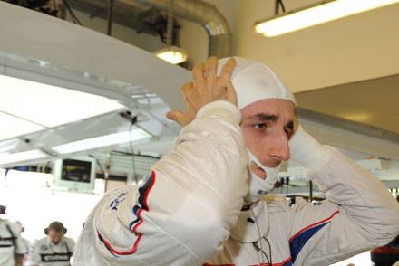 Robert Kubica przed swoim ostatnim startem bolidem BMW Sauber /