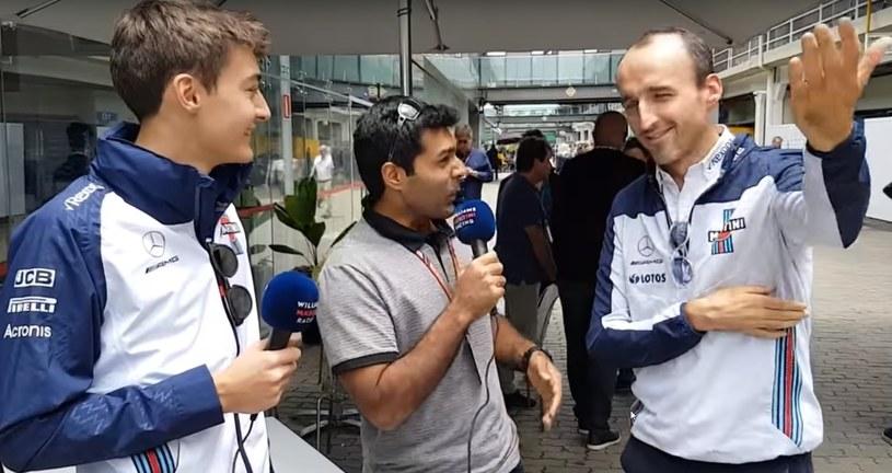 Robert Kubica (z prawej) i George Russell (z lewej), czyli para o największej różnicy wieku w Formule 1. /