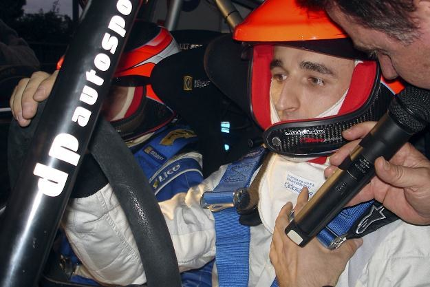 Robert Kubica za kierownicą rajdówki /AFP