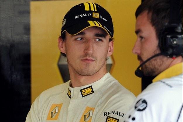 Robert Kubica żegna się z żółtymi barwami /AFP