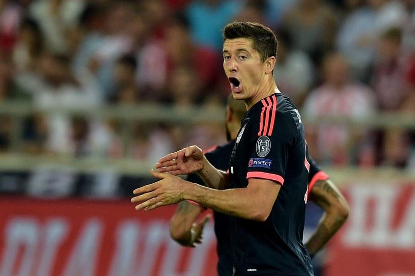Robert Lewandowski cieszy się z gola dla Bayernu /AFP