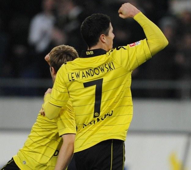 Robert Lewandowski dostanie szansę gry w podstawowym składzie Borussii /AFP