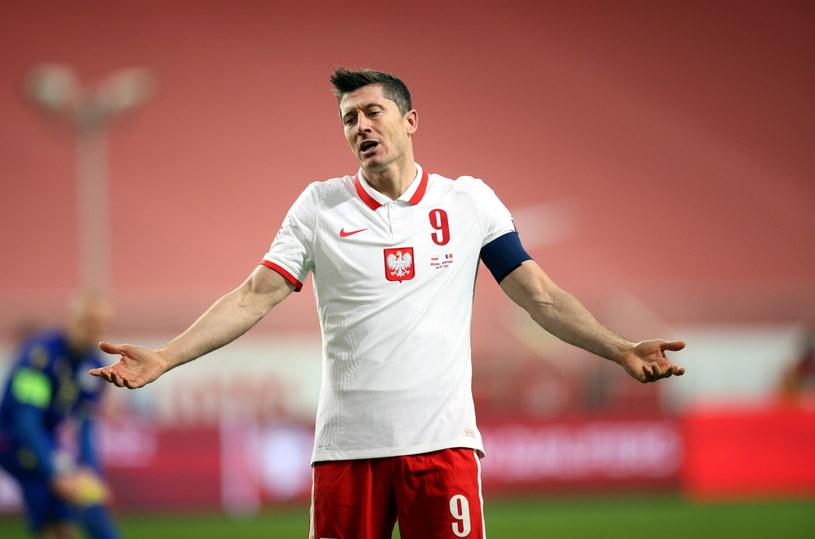 Robert Lewandowski doznał kontuzji w meczu z Andorą /Leszek Szymański /PAP
