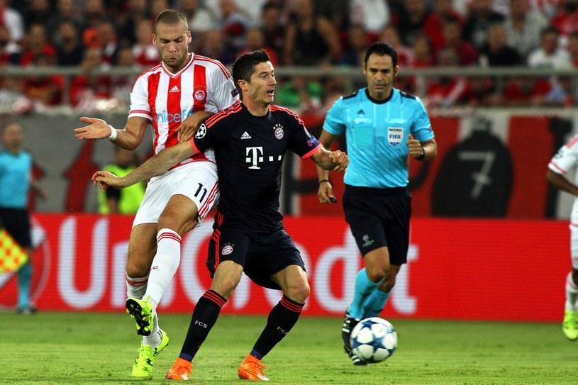 Robert Lewandowski doznał kontuzji w meczu z Olympiakosem Pireus /PAP/EPA