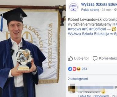 Robert Lewandowski dzień po meczu kadry obronił tytuł licencjata