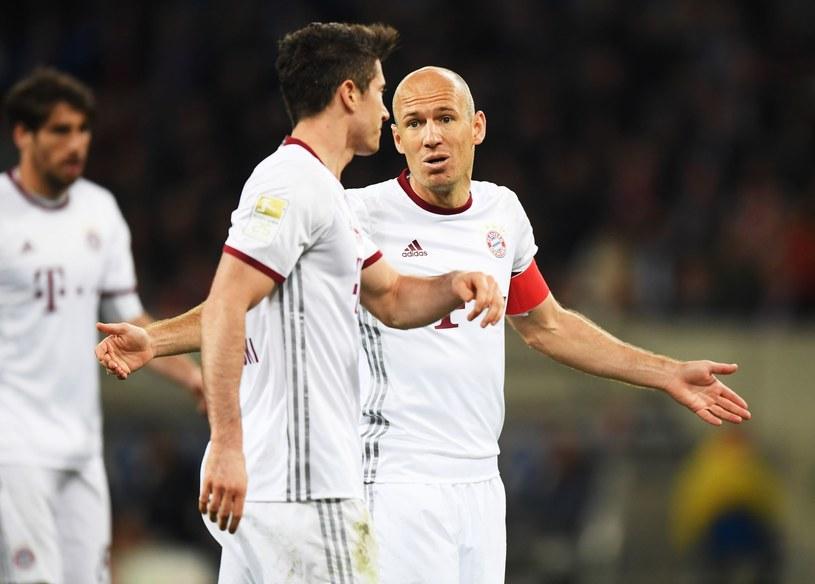 Robert Lewandowski i Arjen Robben nie znaleźli sposobu na zdobycie wyrównującego gola dla Bayernu /Getty Images